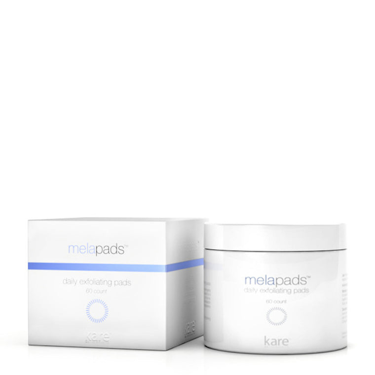 Melapads Daily Exfoliating Pads are pre-soaked wipes that help control large pores, fine wrinkles, and dark spots. Kareskin Melapads contain kojic acid to lighten dark discoloration on the skin.