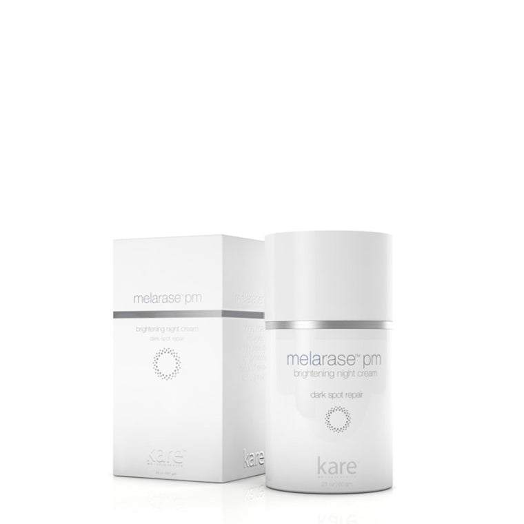 So long, dark spots. Melarase PM Brightening Night Cream fights skin discoloration that can lead to premature aging and uneven skin tone. With a combination of melanin-inhibitors and skin-stimulating exfoliants, you'll see big improvements in the appearance of sun spots, fine wrinkles, and skin discoloration. And if that weren't enough, this powerful formula pulls double duty by also fighting fine lines and preventing wrinkles at the same time. Best used in the evening or before bed.