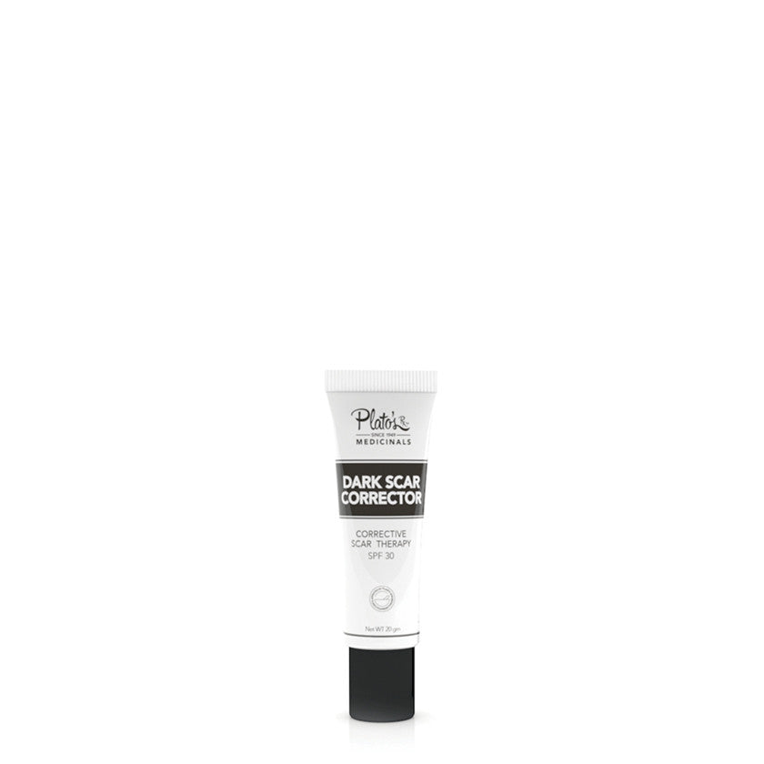 Dark scars don't need to become a permanent blemish on your skin. Soften and correct the appearance of scars with Plato's Dark Scar Corrector - this product directly targets the dark pigmentation resulting from abnormal melanin deposits that accumulate in scars. A best-seller, this product not only corrects discoloration caused by existing scars, but it also prevents the onset and duration of pigmentation in new scars, such as those from acne, burns, and body trauma. Additionally, Plato's Dark Scar Correcto