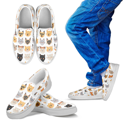 Cute Cats Kid's Slip Ons