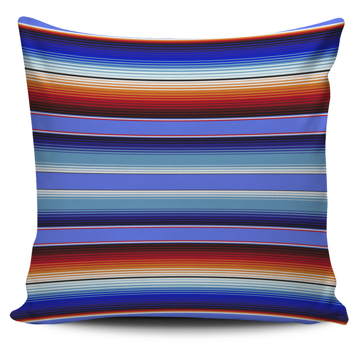 Mexican Aztec Blue Stripe Pillow Cover
