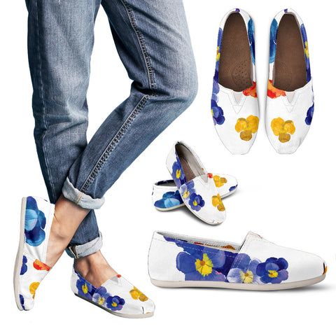 Pansy Flower Women's Casual Shoes