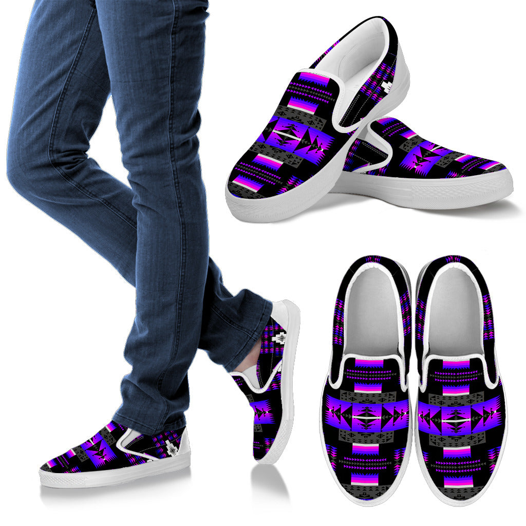 Seven Tribes Purple Thunder Men's Slip Ons