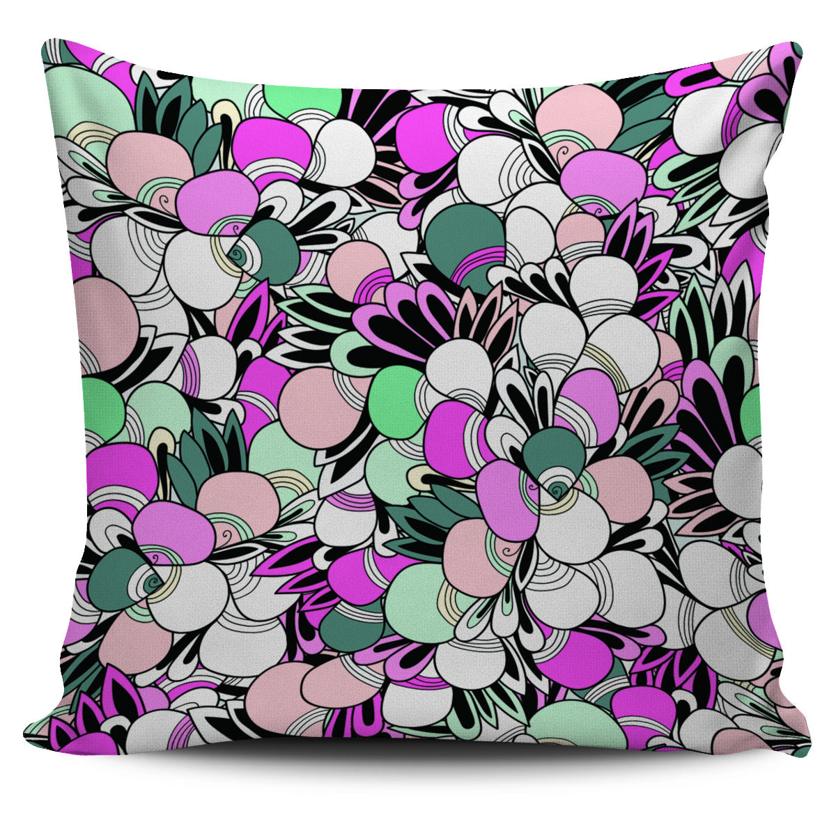 Funky Patterns in Candy - Single Sided Pillow Cover