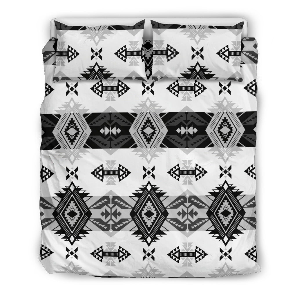 Sovereign Nation Black and White Bedding Set