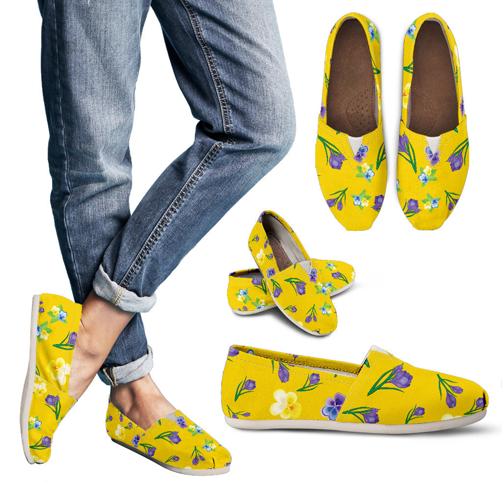 Yellow Flower Women's Casual Shoes