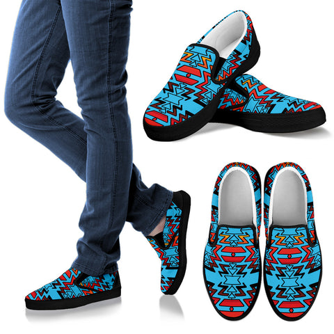 Turquoise Fire and Turquoises Men's Sopo Slip ons