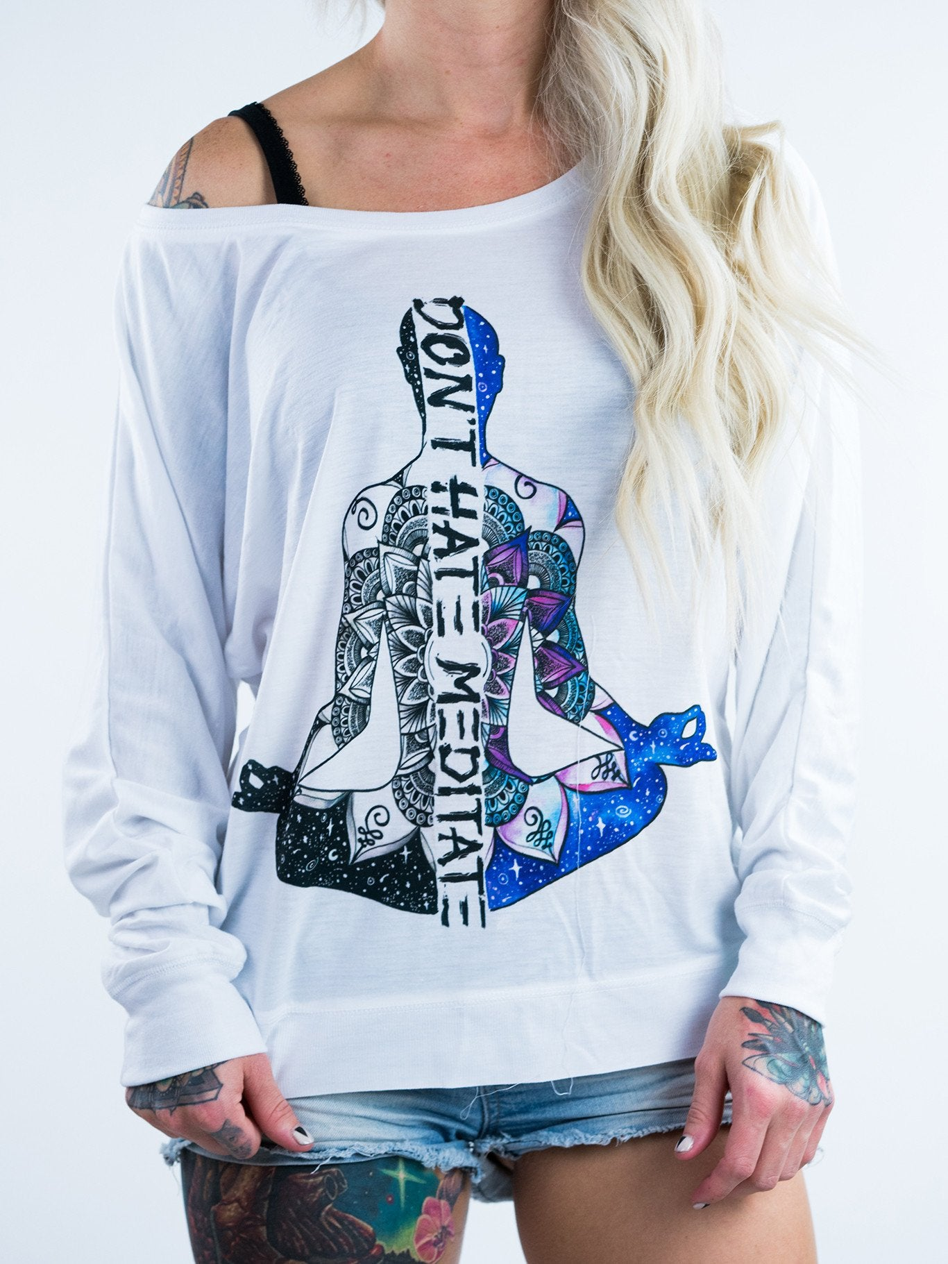 Don't Hate Mediate Flowy Off Shoulder - Positive Vibes Clothing