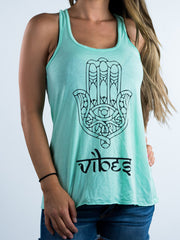 Flowy Hamsa Vibes Tank - Positive Vibes Clothing