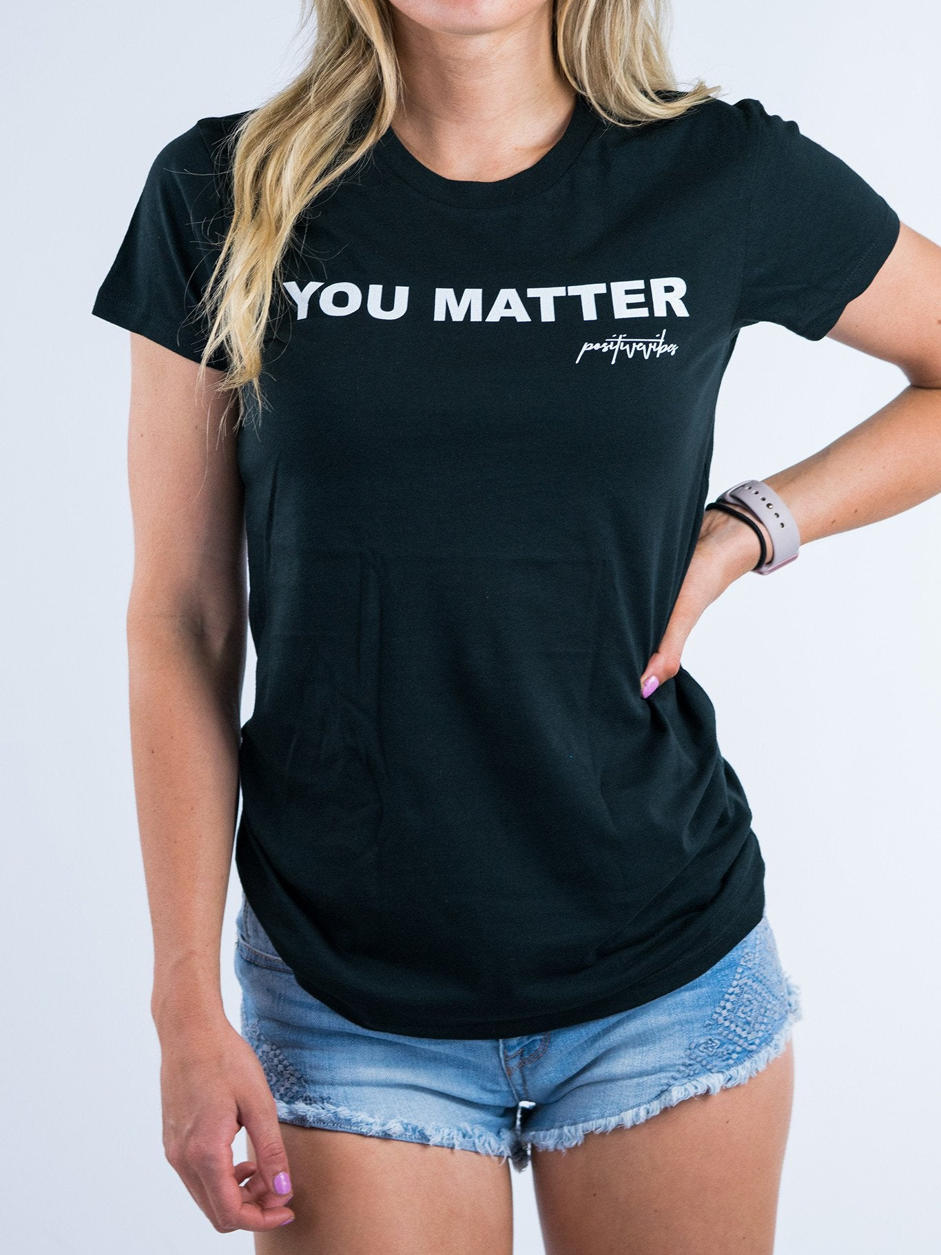 You Matter Tee - Positive Vibes Clothing