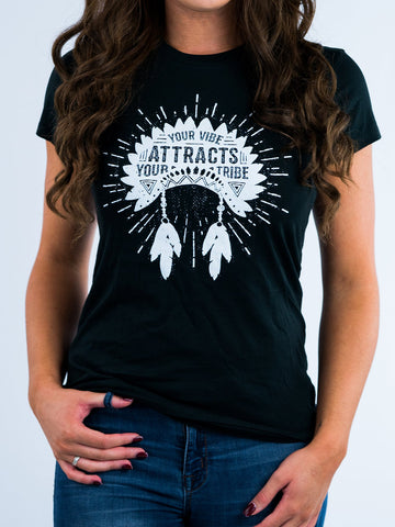 Your Vibe Attracts Your Tribe Tee
