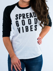 Spread Good Vibes Baseball Tee - Positive Vibes Clothing