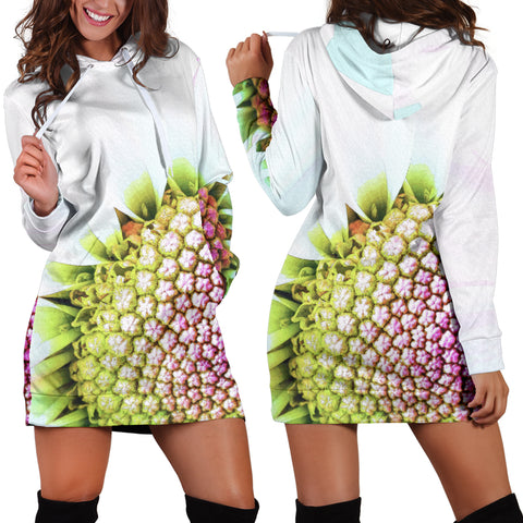 Flower Print Women's Hoodie Dress
