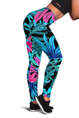 Womens Leggings - Tropical Burst