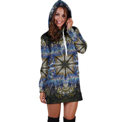 Fractal Mandala Women's Hoodie Dress