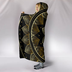 Lotus Gold Handcrafted Hooded Blanket
