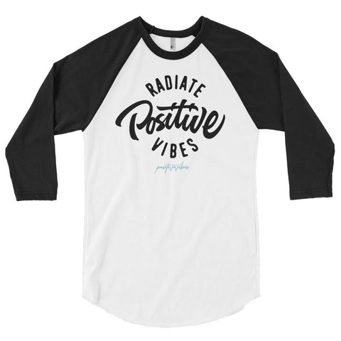 Men's Radiate Positive Vibes Baseball Tee - Positive Vibes Clothing