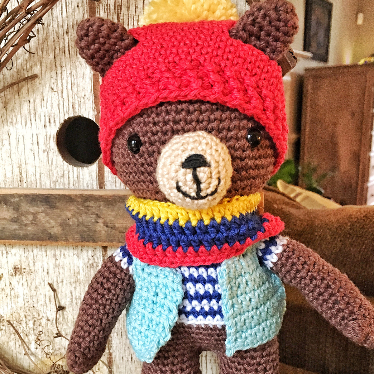 Hans the Grizzly Bear Amigurumi Crochet Class - THREE SESSIONS