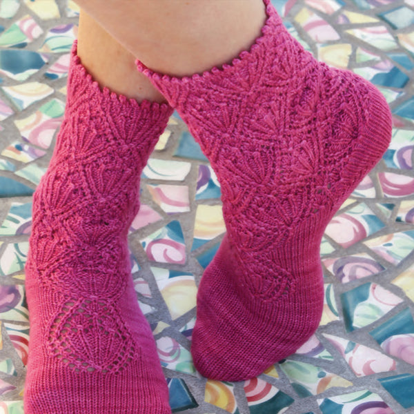 May Day Flowers Socks Knitting Class - THREE SESSIONS - with Heather Storta