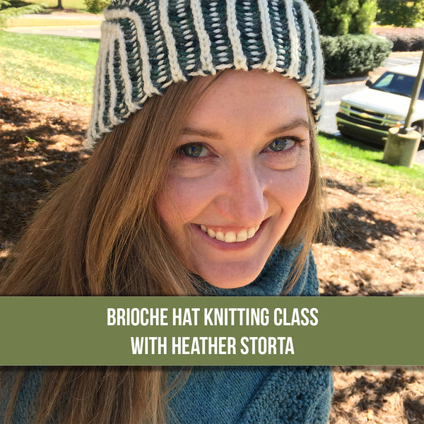 Beginning Brioche Hat Knitting Class