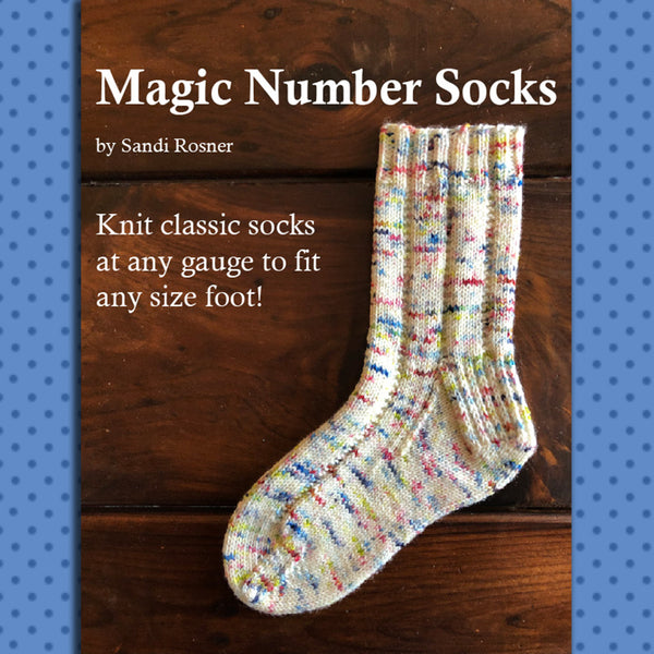 Magic Number Socks Knitting Class - Four Sessions - Sept. 7, 14, 21, 28, 2:00 - 4:00 pm