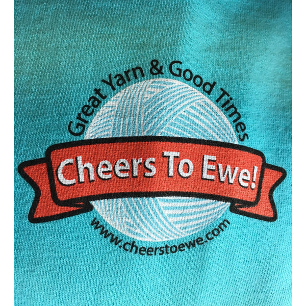 T-Shirt CHEERS TO EWE! - Turquoise Blue-Cheers To Ewe!