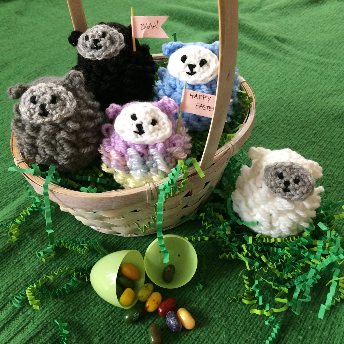 Wooly Sheep Crocheted Egg Covers CROCHET Class - One Session - March 24, 2018 10:00-12:00