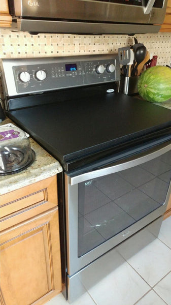 Black StoveTopper® for Electric or Gas Cooktops & Ranges
