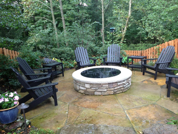 Customer Photo of thier Custom Color Round Fire Pit Cover