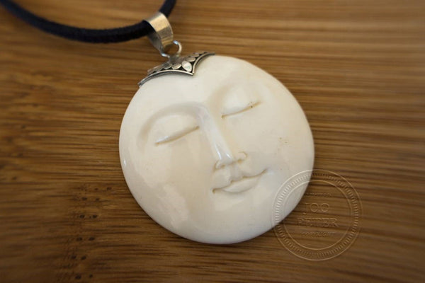 Moon Spirit - Bali Moon jewelry, handmade by Balinese silvermsmiths and carving artists, limited edition, Boho, Tribal, Ethno style