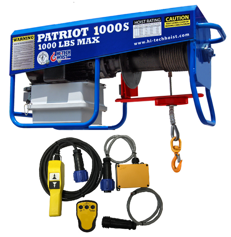 Patriot 1000-S WIRELESS Portable Hoist /1PH (Sku: PAT-1000-SR)