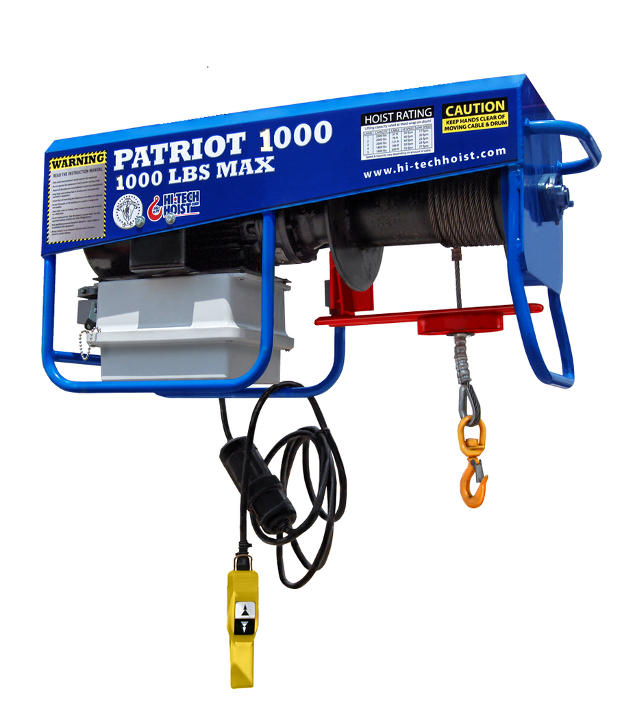 Patriot 1000 Portable Hoist VFD/3PH (Sku: PAT-1000)
