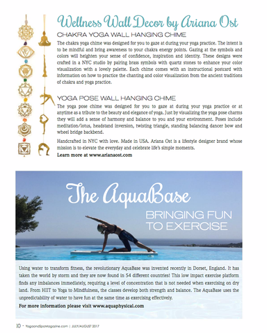 yoga and spa magazine feature