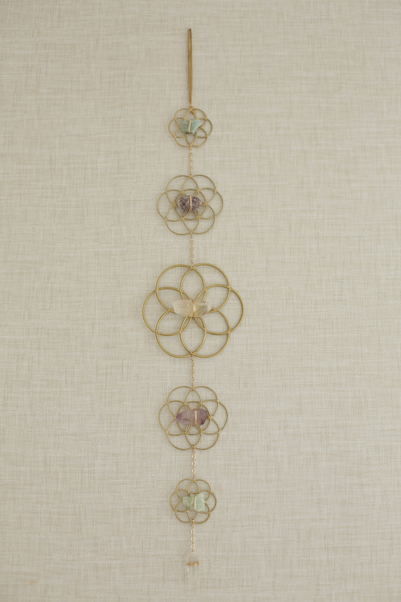 Crystal Grid Flower of Life Wall Hanging