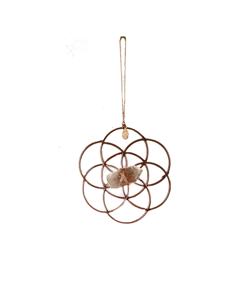 Single Crystal Grid Flower Of Life Ornament