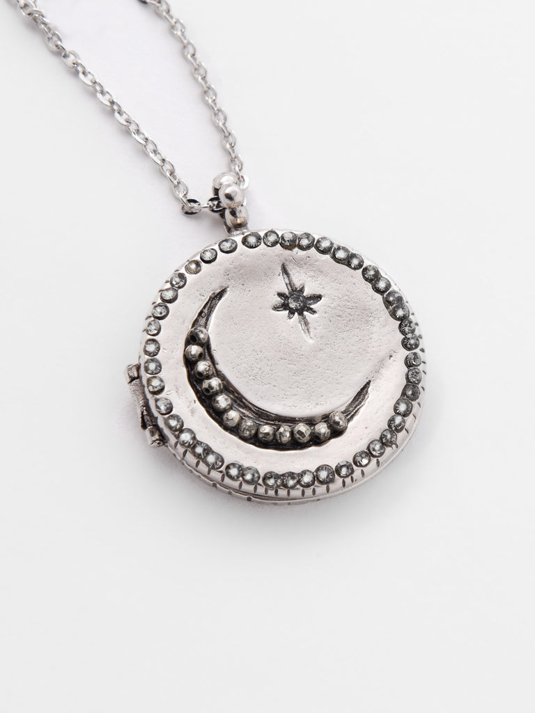 silver lockets round necklace plain custom zoom listing fullxfull locket length il