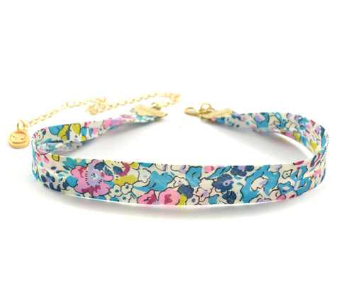 Chokers, Choker Necklace, Handcrafted Chokers, Handmade Chokers, Liberty Print Chokers, Metallic Chokers, Fabric Choker Necklace