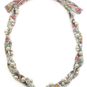 Liberty Print Necklace - Blue