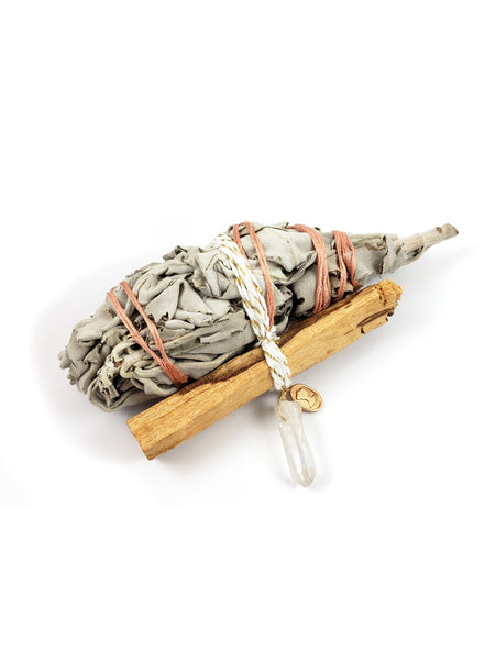 Palo Santo, Sage and Crystal Smudging Bundle