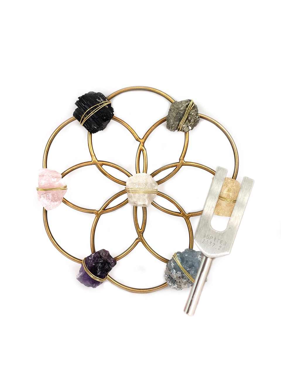 sound healing crystal grid