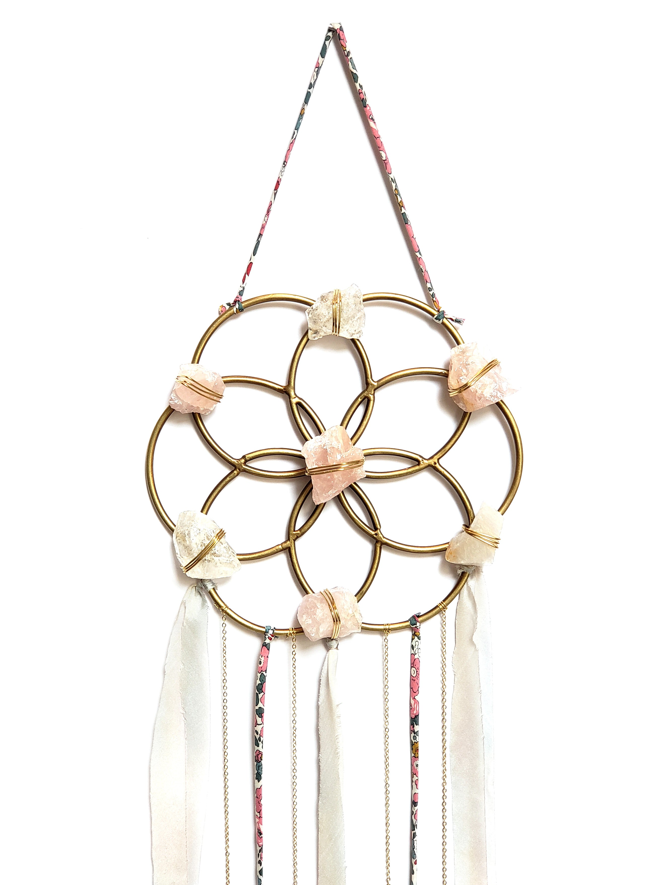 crystal grid dream catcher