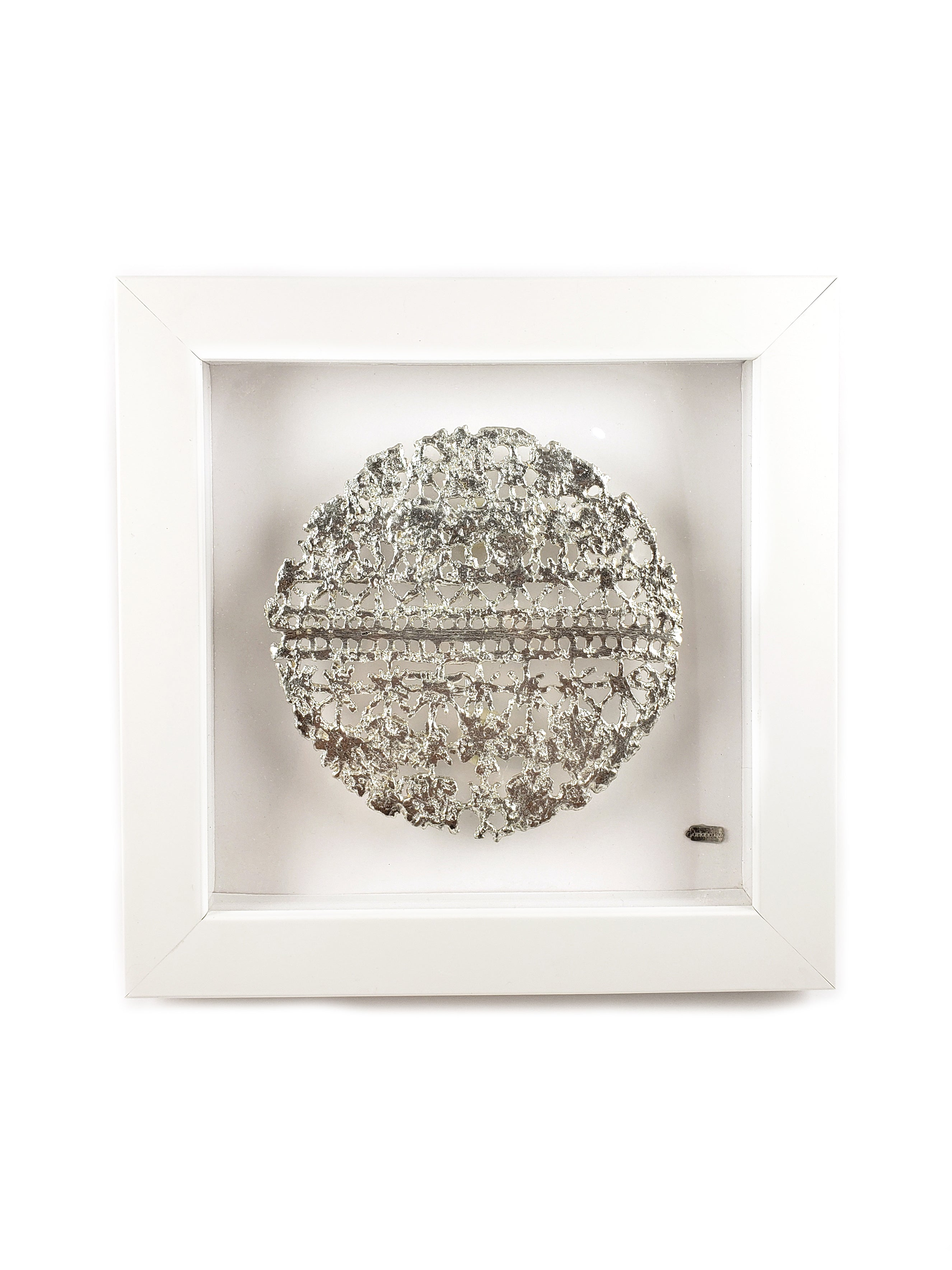 Cast Lace Shadow Box Metal Art