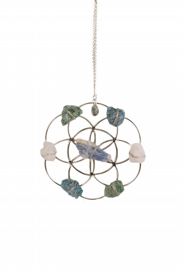 Crystal Grid Flower Of Life Ornament