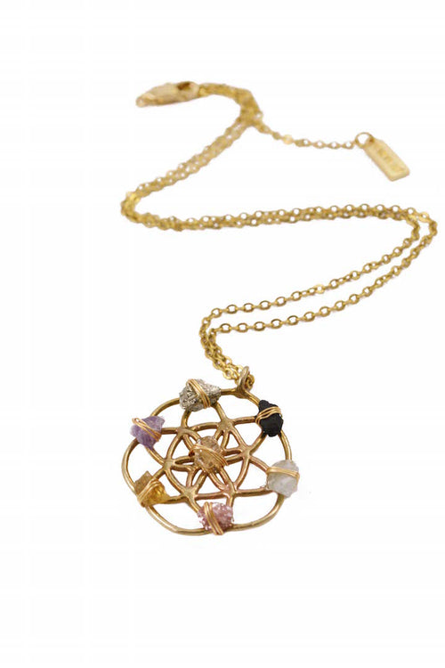 crystal grid necklace