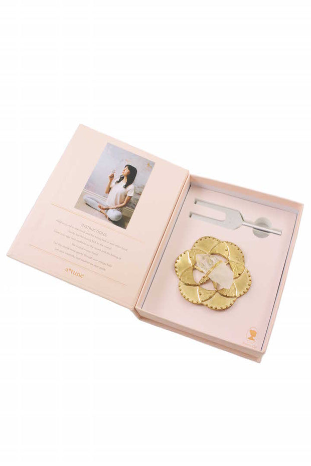 Sound Healing Crystal Kit - Tuning Fork and Flower of Life Crystal Dish Set 1