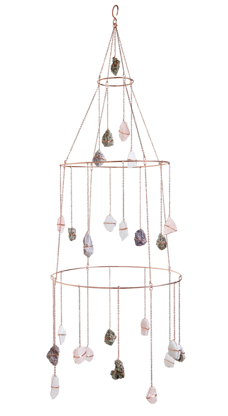 Ethereal Mixed Healing Crystal Chandelier