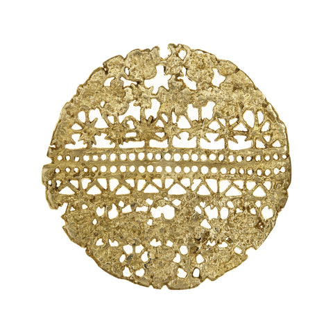 Metal Coaster, Lace Coaster, Handcrafted Coaster, Laser Cut Coaster, Gold Plated Coaster