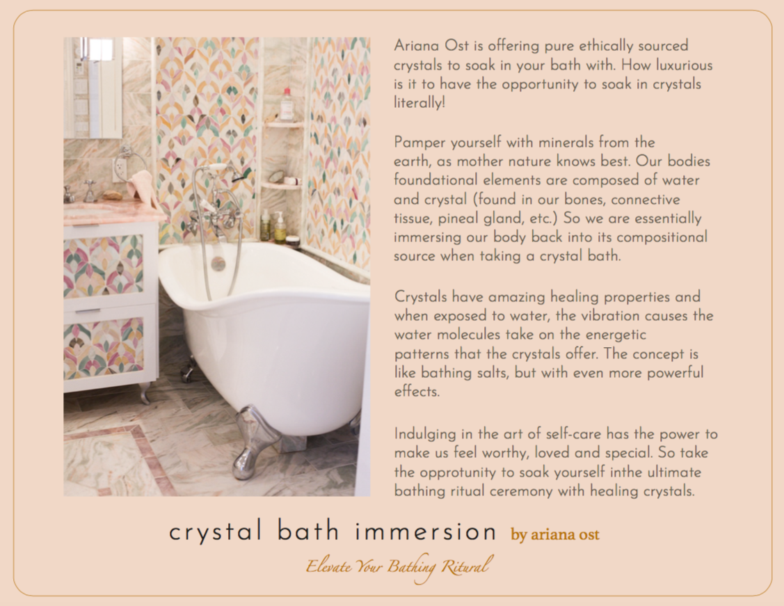crystal bath kit