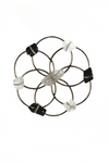 Small Flower of Life Healing Crystal Grid - Silver Black & White