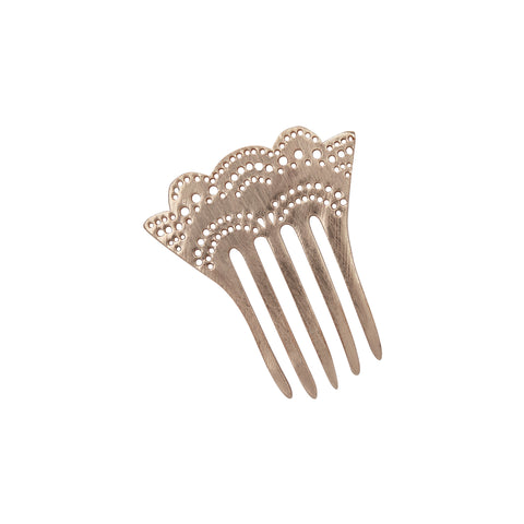 Hair Comb, Mini Hair Comb, Metal Hair Comb, Mini Metal Hair Comb, Decorative Hair Comb, Rosegold Hair Comb